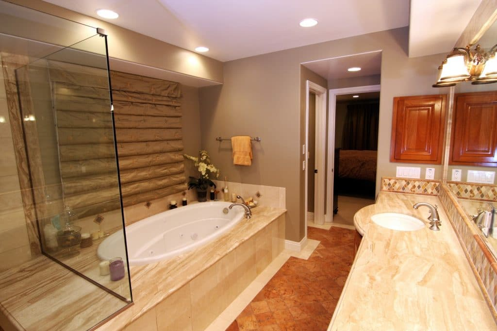 Remodeled Bathroom Shower Bathtub Warm Cozy Comfortable | Best General Contractor for Bathrooms in Los Angeles | High Class Builders