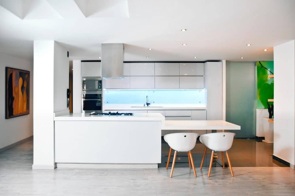 Modern Minimalist Kitchen White Counter Cabinets | Best General Contractor for Kitchens in Los Angeles | High Class Builders