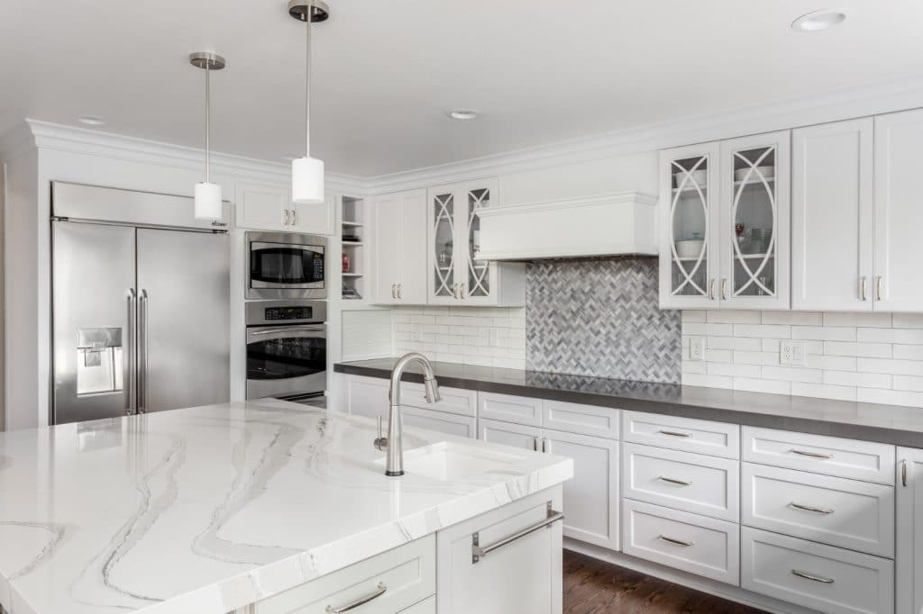 Modern Remodeled Kitchen Granite Countertops White Cabinets | Best General Contractor for Kitchens in Los Angeles | High Class Builders