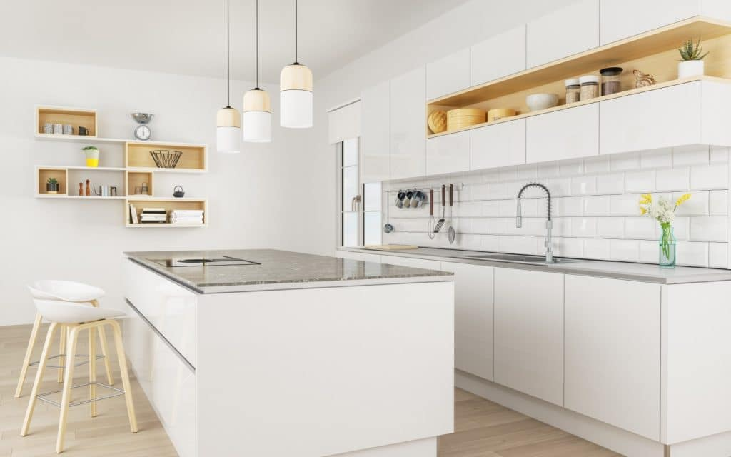 Modern Clean Minimalist Kitchen Granite Counter White | Best General Contractor for Kitchens in Los Angeles | High Class Builders