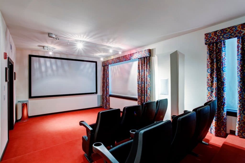 New Home Entertainment Theatre Room Construction with Cinema Seats | Best General Contractor for Home Entertainment Systems in Los Angeles | High Class Builders