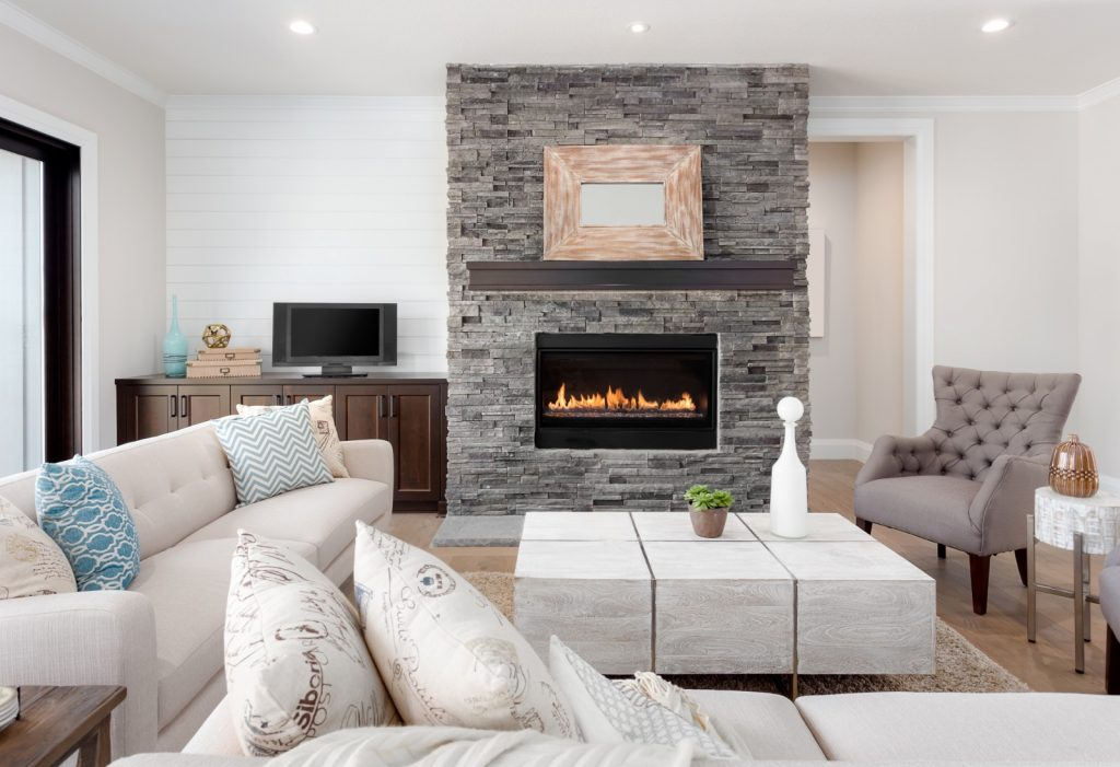 Fully Remodeled Living Room Construction with Fireplace | Best General Contractor for Home Remodeling in Los Angeles | High Class Builders