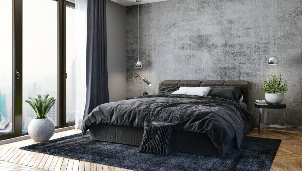 Modern Bedroom Grey Dark Zen | Best General Contractor for Bedrooms in San Francisco | High Class Builders