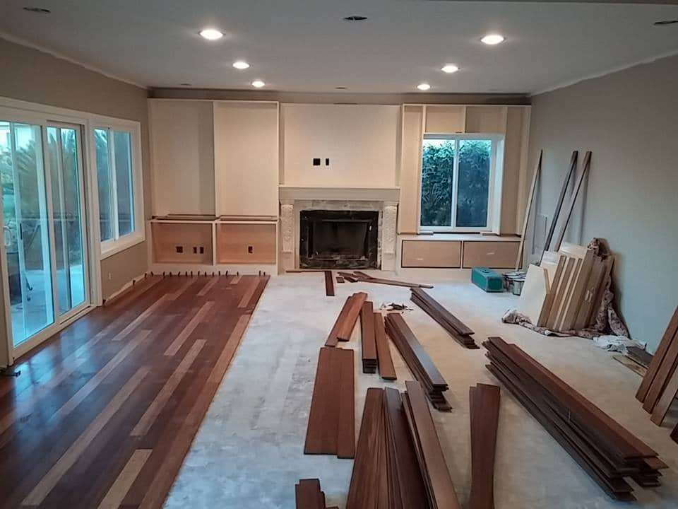 Renovation vs. Remodeling Ground Level Floor Being Remodeled with Hardwood Floors   Best General Contractor in Los Angeles   High Class Builders Blog